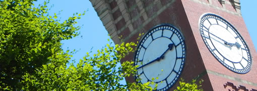 The clock face on the clock tower
