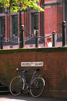 bicycle outside university square