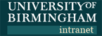 University of Birmingham Intranet