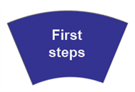 You are on the First steps page