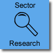Image of magnifying glass, titled sector researc