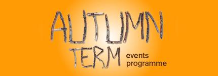 Autumn events programme