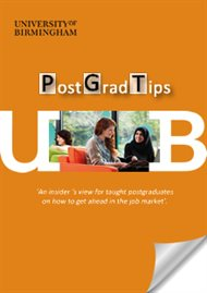 Post Graduate Tips brochure