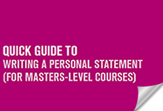 Quick guide to writing a personal statement