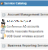 Associate request in ServiceNow