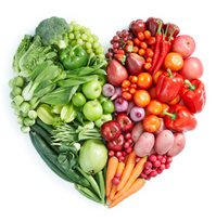 Picture of vegetables in a heart shape