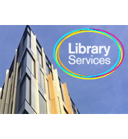 library with logo