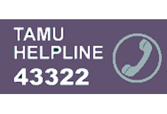 TAMU Helpline Phone Number internal 43322