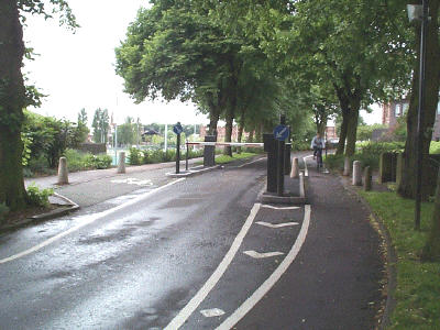 Bike lanes on the South Gate approach to the University