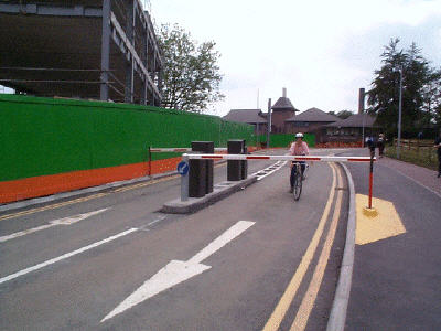 West Gate road barrier