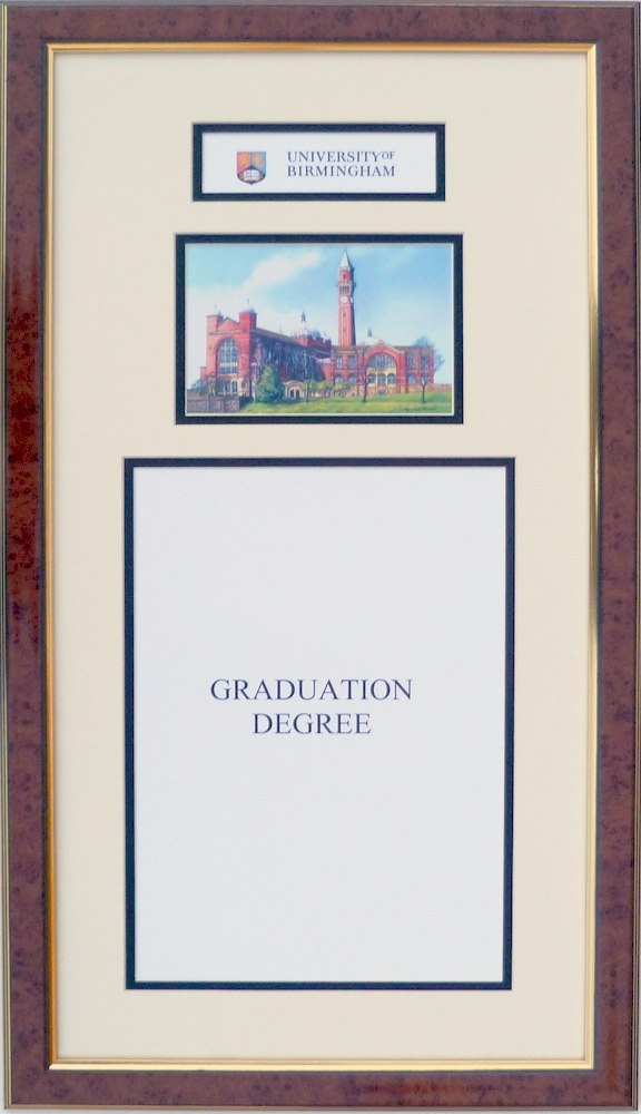 degree certificate frame with lynda kettle print university of