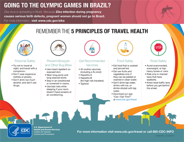 Rio olympics health advice