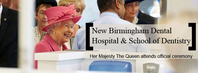 Her Majesty The Queen attends official ceremony for new Birmingham Dental Hospital and School of Dentistry
