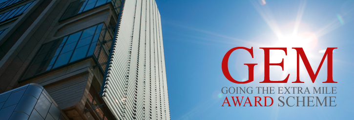 CoSS Going the Extra Mile (GEM) Award Scheme