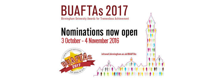 Nominate for BUAFTAs 2017 by 4 November