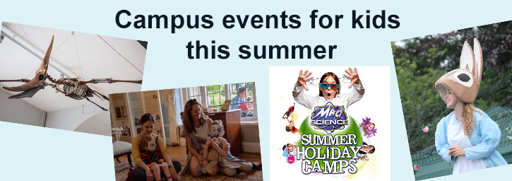 Campus events for kids this summer